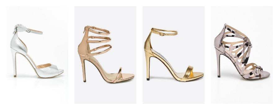 metalic heels
