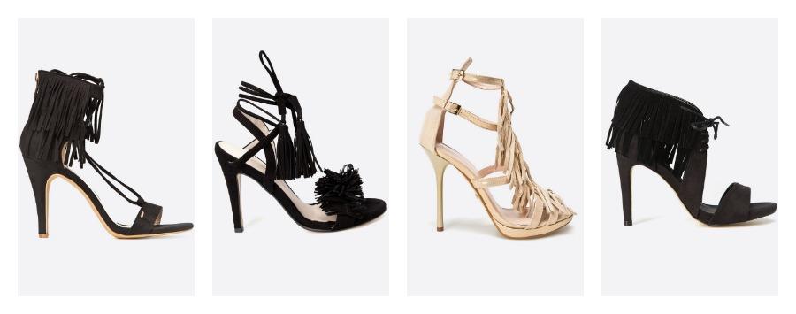 heels with fringe