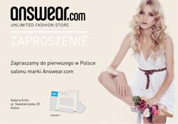 Zaproszenie - otwarcie answear.com w Echo Kielce