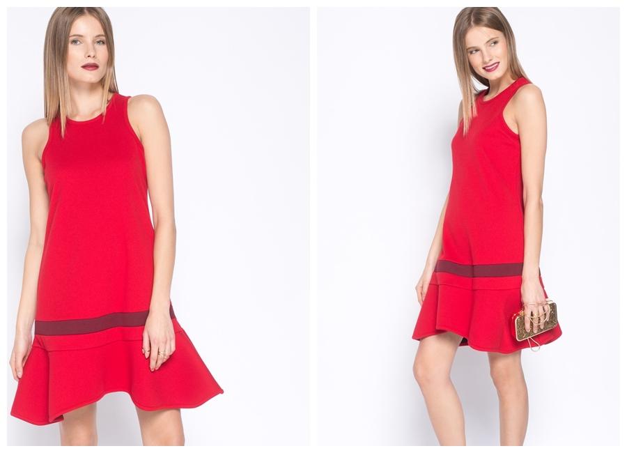 Czerwona sukienka na studniówkę