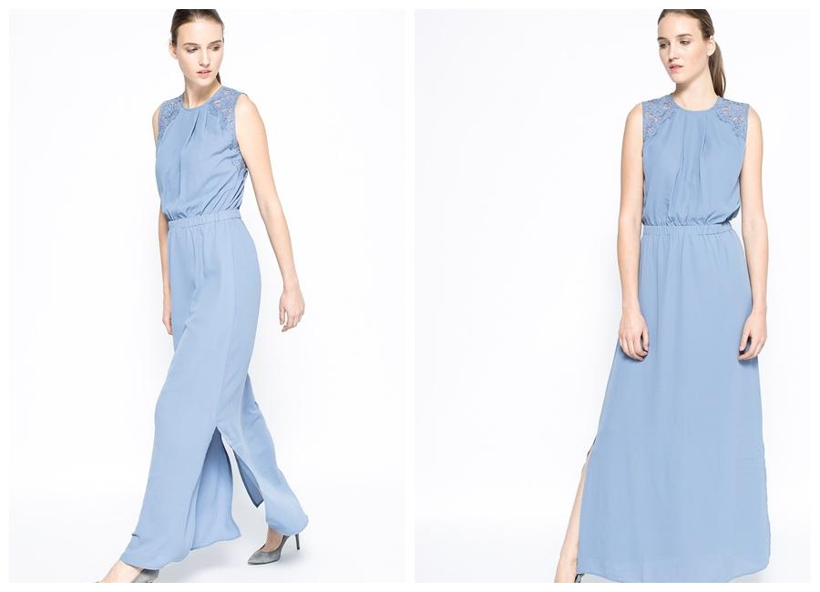 błękitna sukienka długa