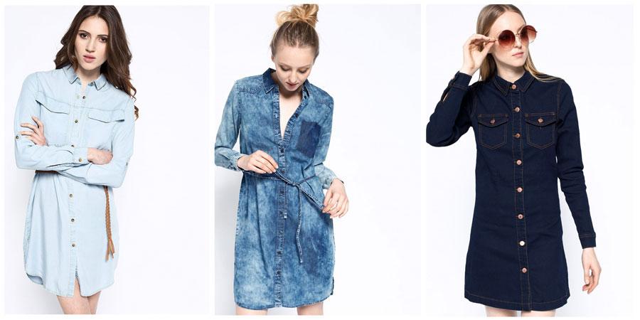denimowa sukienka
