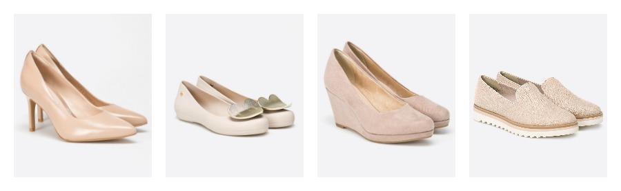buty w kolorze nude