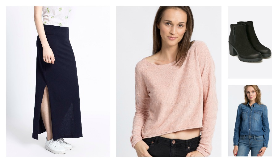 długa spódnica sweter