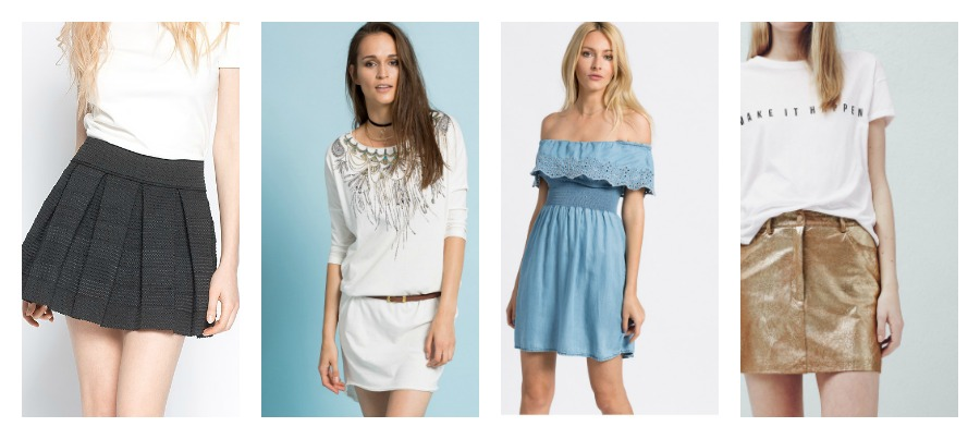 krótkie spódnice i sukienki