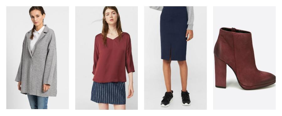spodnica i bluzka na egzamin
