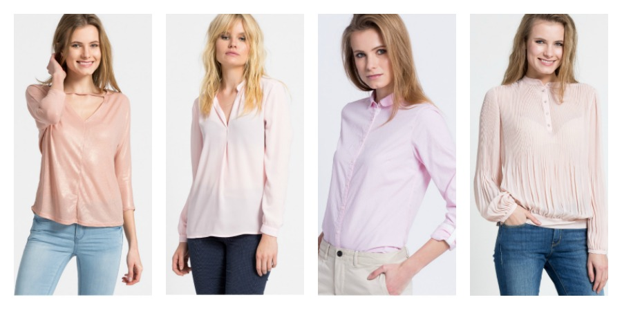 pink blouses and shirts