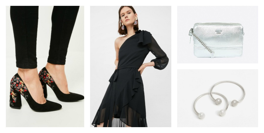 shoes, dress, bag, earrings