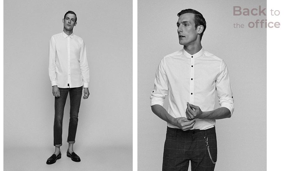 biała koszula do pracy