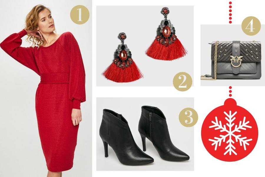 świąteczne stylizacje z sukienką