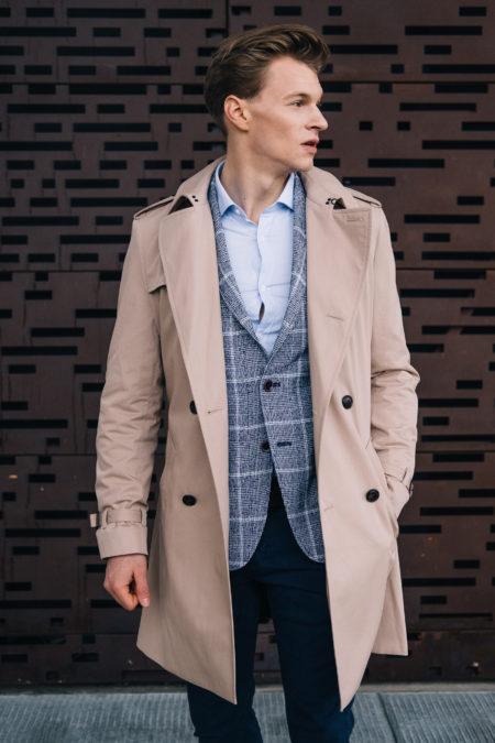 smart casual płaszcz