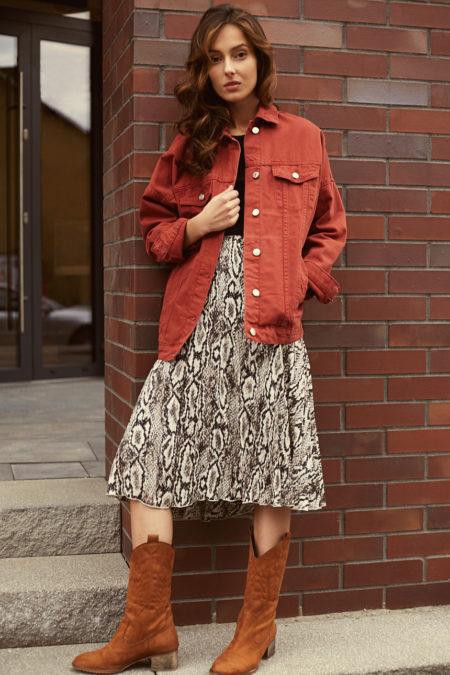 czerwone kurtki jeansowe