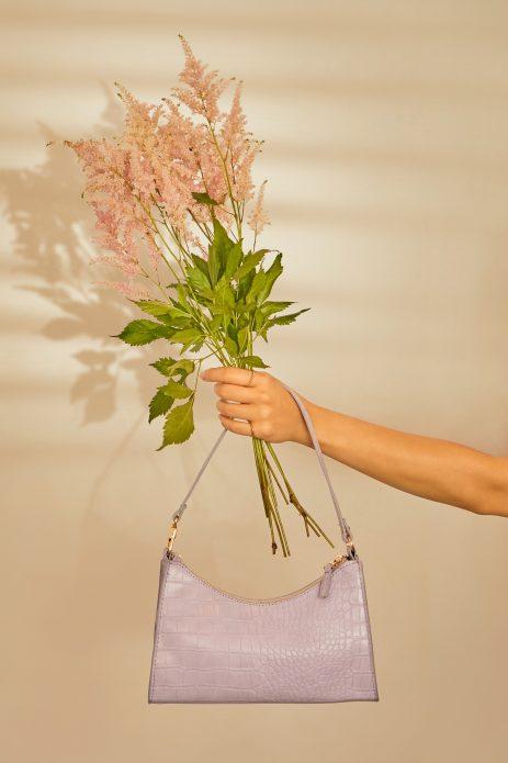lawendowa torebka na wesele
