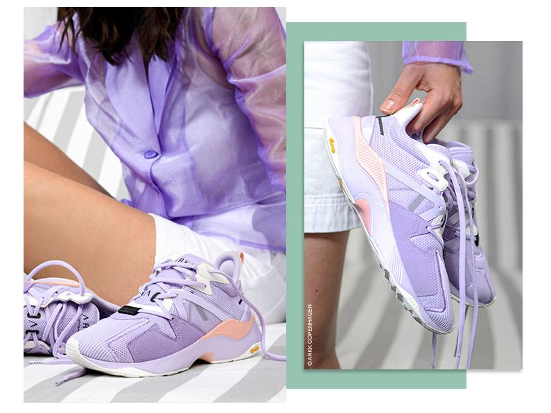 fioletowe sneakersy