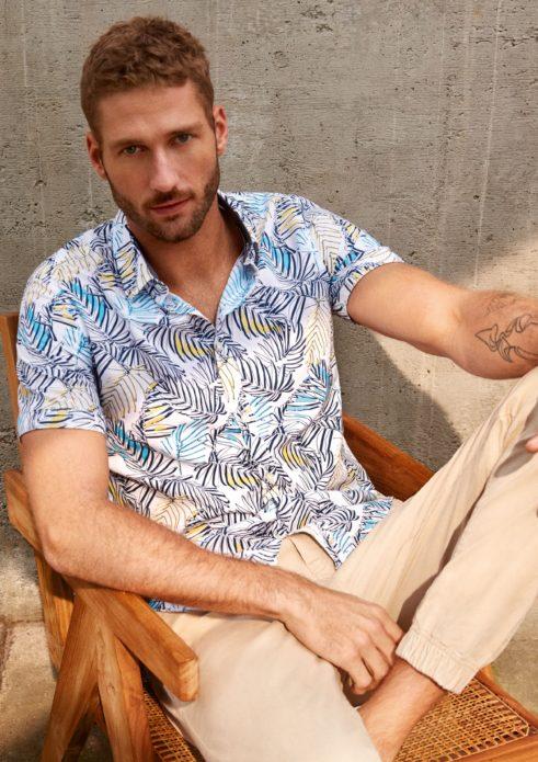 modne koszule we wzór